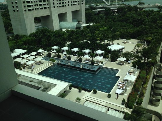 The pool viewed from the top of marina bay sands picture for Pool garden marina mandarin