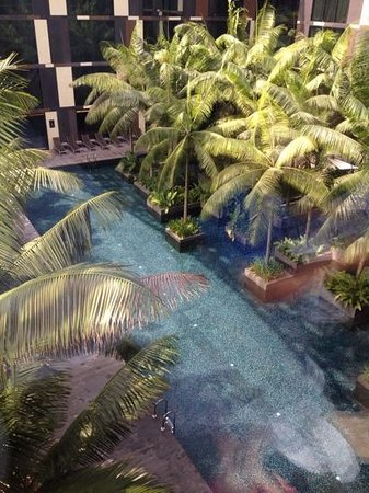 Crowne Plaza Changi Airport: view of pool from room