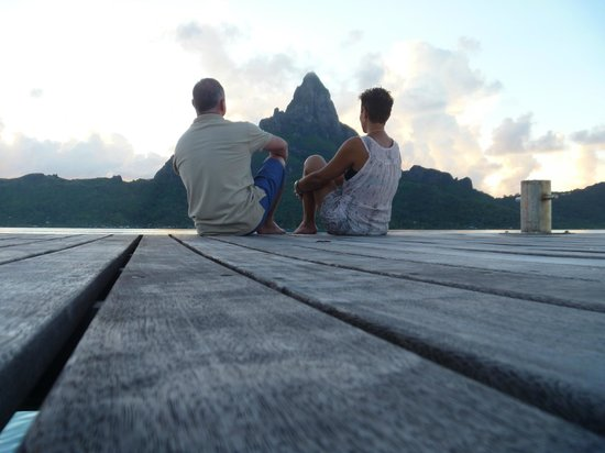 InterContinental Bora Bora Resort & Thalasso Spa : Soaking up the awesome views at the end of another gorgeous day