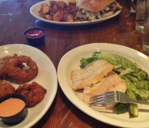 Dr. Field Goods Kitchen: Onion rings, grilled caesar, pulled pork sandwich...