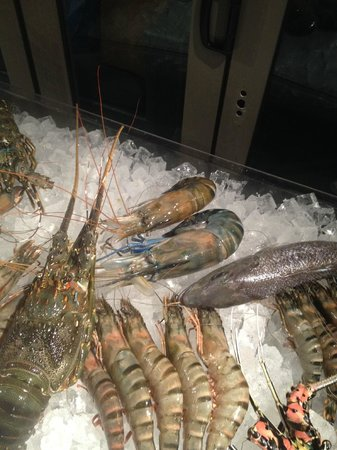 Hotel Jen Male: Fresh shellfish at Azur restaurant