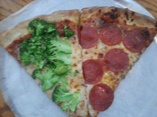 Grant Central Pizza: Slice of broccoli/slice of pepperoni