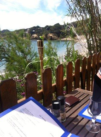 Le Pradeau plage : vue depuis la terrasse