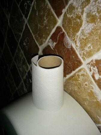 Le Café La Nuit: Dernières feuilles du dernier rouleau dans ces toilettes immonde..