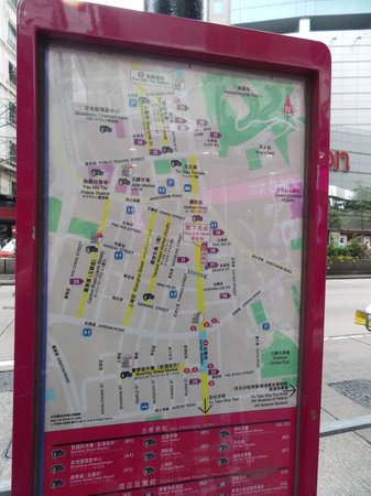Novotel Hong Kong Nathan Road Kowloon : Location map in front of hotel