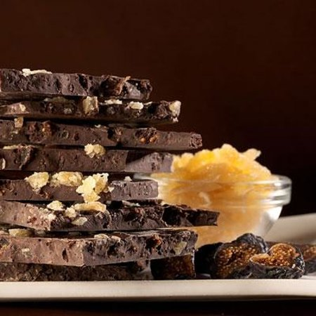 Dr. Sue's Chocolate: Ginger & Fig Chocolate Bark