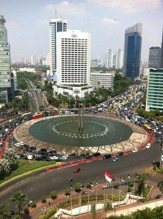 Grand Hyatt Jakarta: room view Selamat Datang Monument