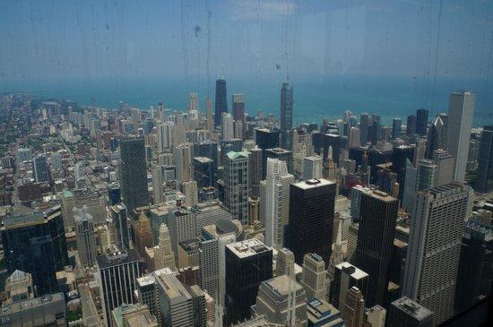 Skydeck Chicago - Willis Tower : Utsikt från Willis Tower