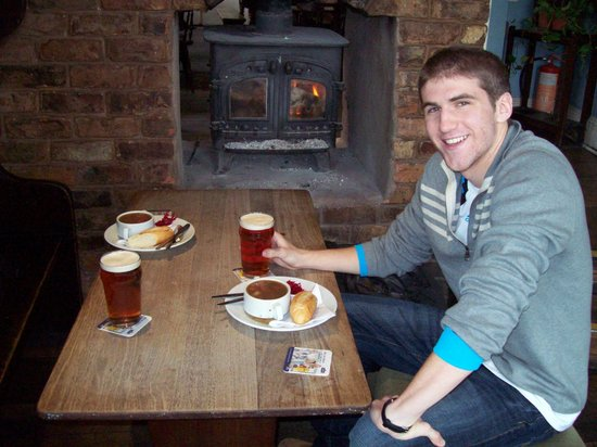 Baltic Fleet: Warming up with a bowl of scouse in front of the wood stove!
