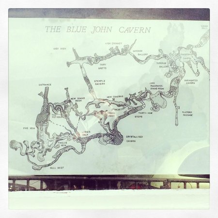 Blue John Cavern: Map of cavern layout