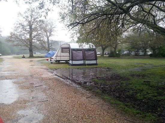 Ashurst Campsite: nearly everyone left the site