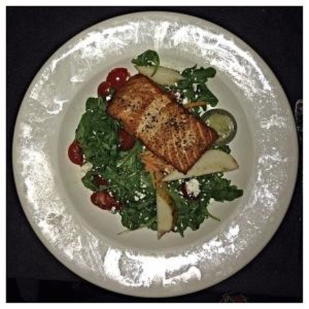 Friend of a Farmer: Arugula Salad with Blackened Salmon