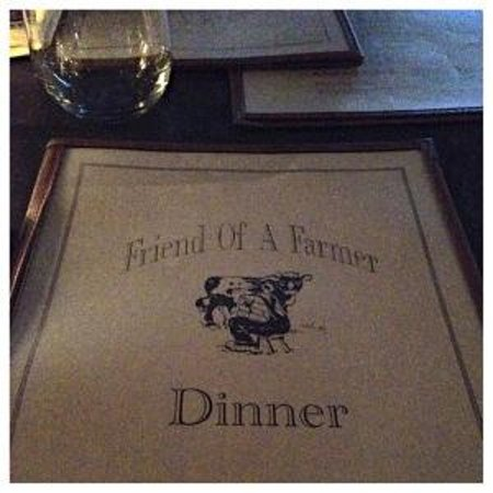 Friend of a Farmer: Menu