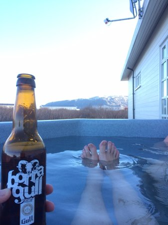 Hotel Grimsborgir: Hot tub
