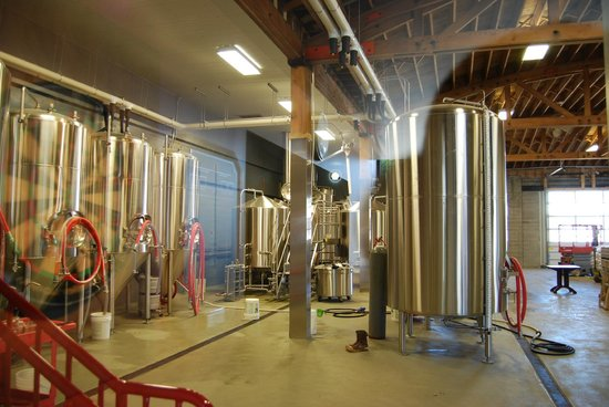 View of brewery from the taphouse
