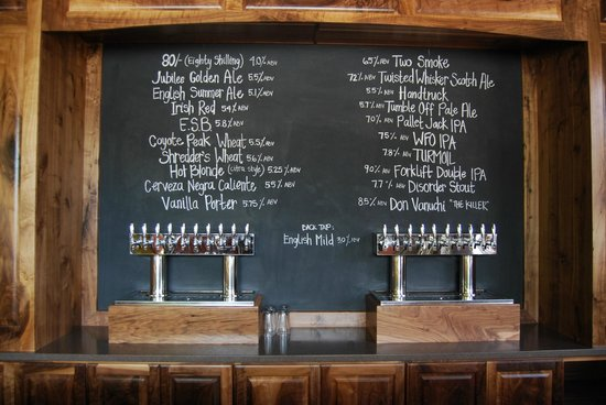 Taphouse: Beer List