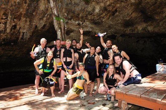 Mayan Jungle Tour: the group with EURI