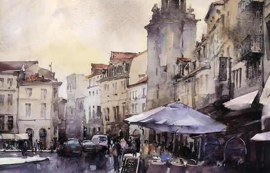 Renaissance School of Art: Watercolor by Vladislav Yeliseyev