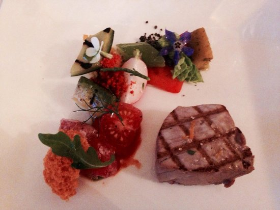 Breitner: Grilled tuna and a perfect selection of vegetables