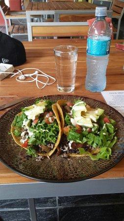 Luv Burger: Gluten free Veggie tacos