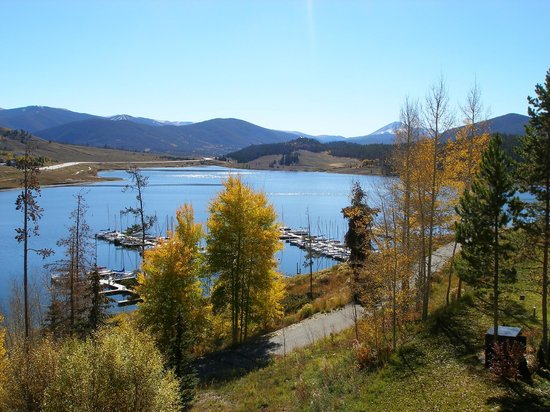 Dillon Reservoir: Looking down on the Dillon Marina