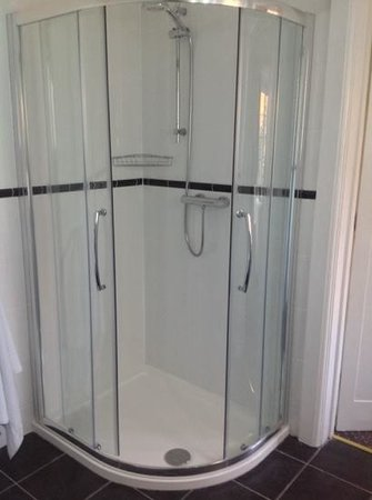 East Cliff Cottage Hotel: Decent sized shower