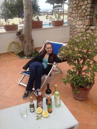 Hotel Villa Sanfelice: Room 113 private patio