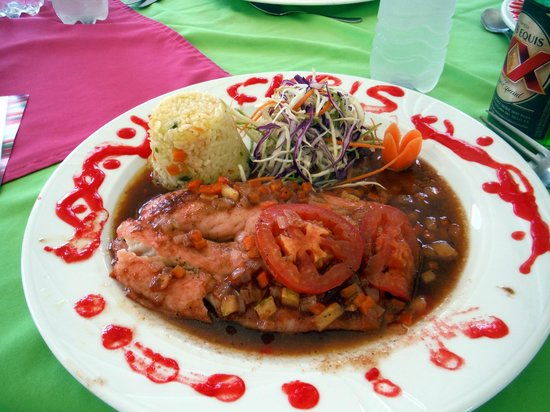 Playa Mia Grand Beach & Water Park: Tasty fish in tamarind sauce - I made it myself!