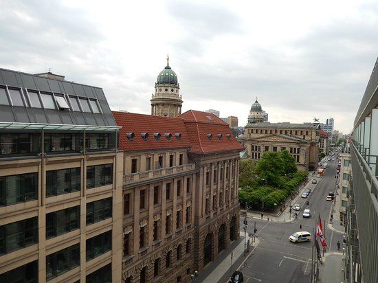 Regent Berlin: Cathedral domes of Gendarmenmarkt Sq from my room