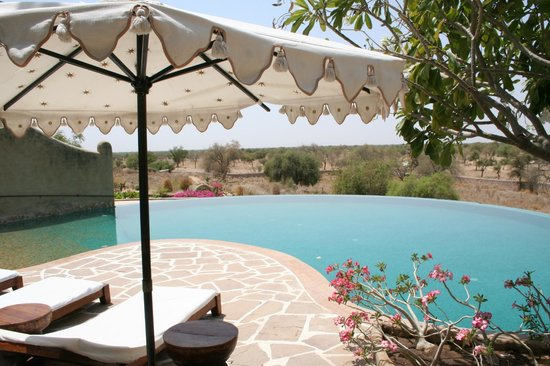 Mihir Garh : Pool overlooking the desert