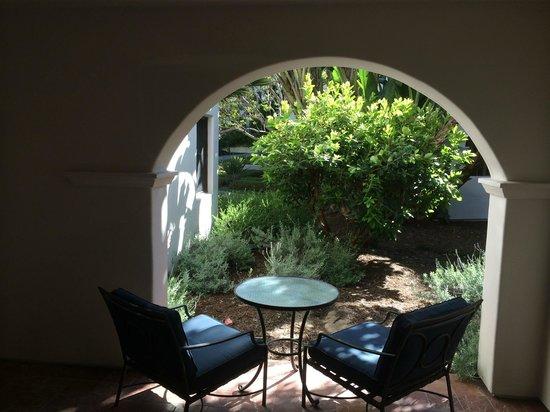 The Ritz-Carlton Bacara, Santa Barbara : Garden View from a VERY comfortable room