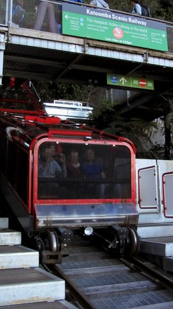 Scenic World Blue Mountains: The Scenic Railway reaching the bottom stop