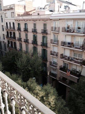 Hotel Constanza Barcelona : Vista desde el balcón de la habitación