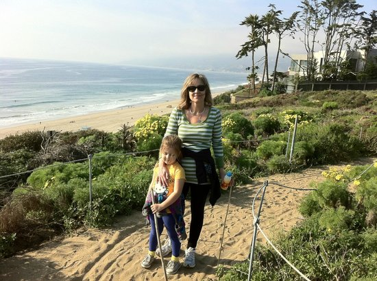 Point Dume State Beach and Preserve: Halfway to the top