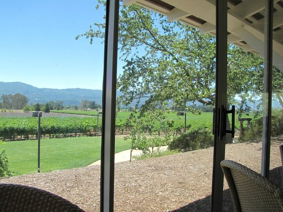 Mumm Napa: Vista do tasting room