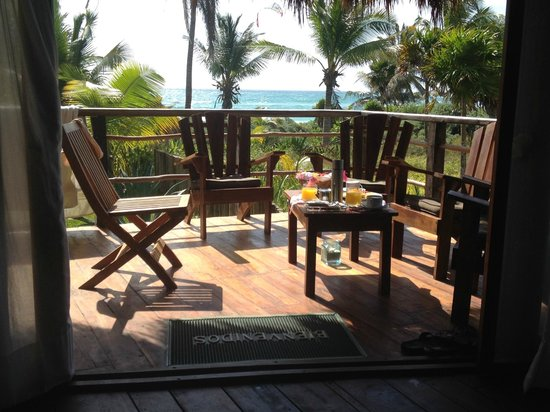 My Way Boutique Hotel: Breakfast on the deck of Imperial suite