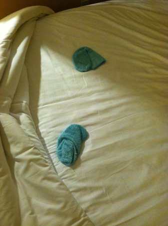Loews Royal Pacific Resort at Universal Orlando: Dirty Socks Found in Bed