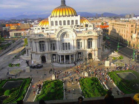Palacio de Bellas Artes: Vista superior.