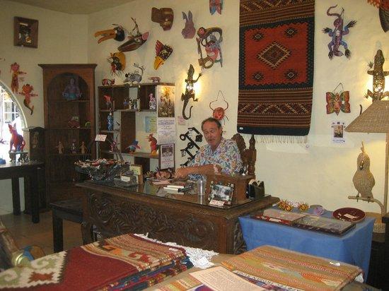 Lucy's CuCu Cabaña: Gil at his desk.