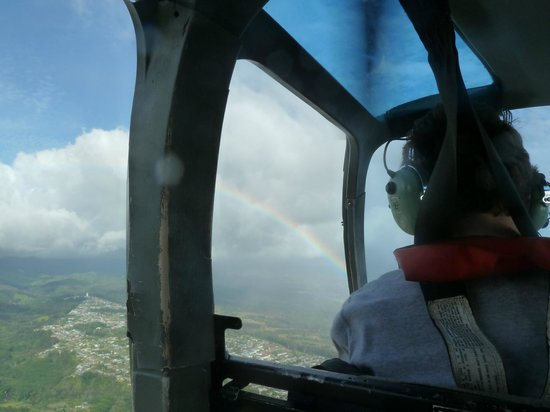 Genesis Helicopters: Rainbows are perfect circles but you can only see this from the sky!