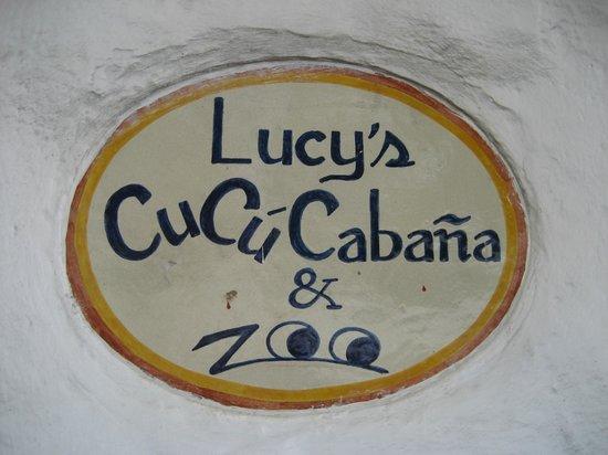 Lucy's CuCu Cabaña: Cute little sign.