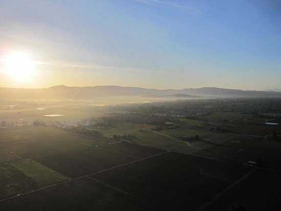 Napa Valley Balloons, Inc. : Fog in the valley at sunrise