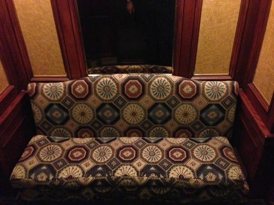 The Drake Hotel: Couch in the elevator