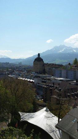 Gletschergarten: Aussicht vom Turm