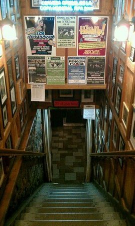 Anna Liffey's Stairwell, the bar is downstairs