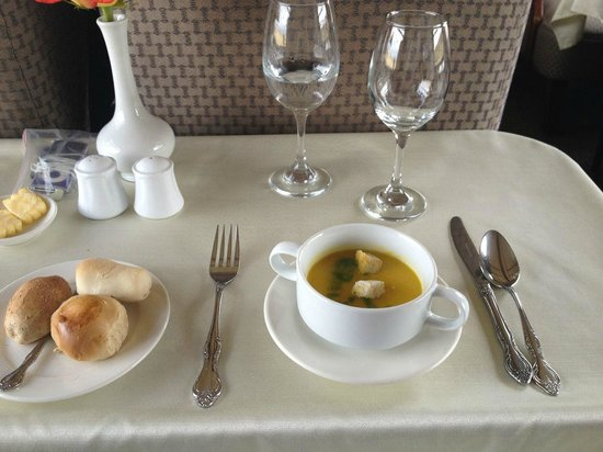 PeruRail Titicaca: Soup for lunch