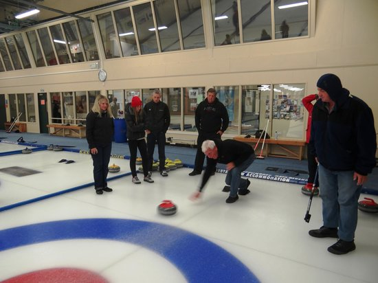Off The Rails Cycle Tours: Curling - what fun.