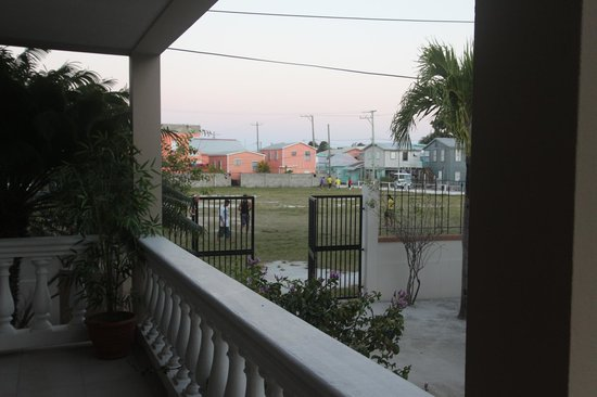 Iguana Reef Inn : Soccer field from the front porch