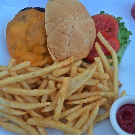 The Savoy Hotel: From the restaurant - Grilled Cheeseburger & Fries $11