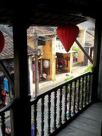 Moon's Homestay: View out of balcony in the Museum of Trade Ceramics Hoi An Old Town
